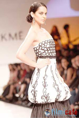 Kangana Ranaut Ramp Lakme Fashion Week 2009 Pictures