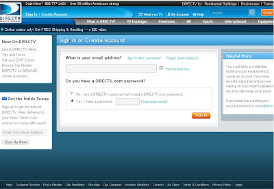 My Account Login, How to View  Pay Direct Tv Bill by Login to Directv ...