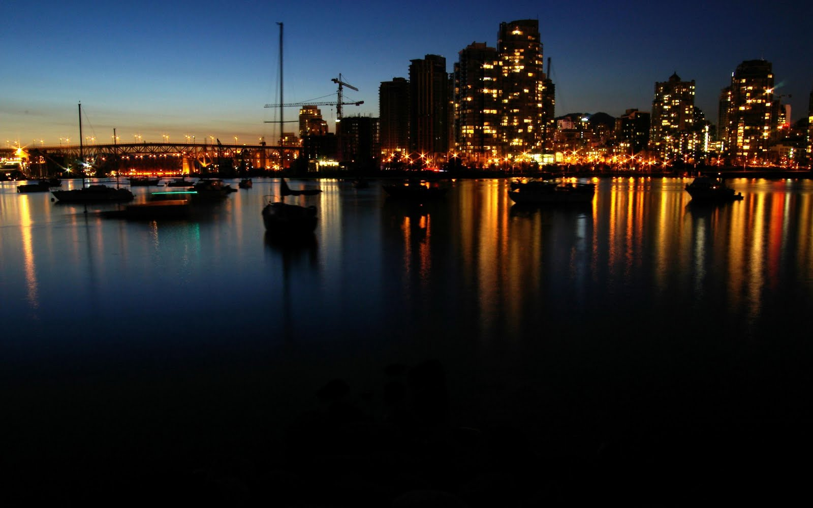 Wallpaper vancouver city nights Wallpapers HD - vancouver city nights wallpapers