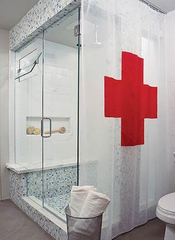 House Macabre: bathroom: vintage medical laboratory