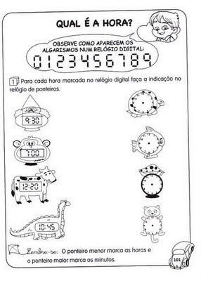 Alfabetizando%2Be%2BConstruindo%2BVol%2B3%2Bp%25C3%25A1g%2B101%5B1%5D Atividades de Matemática: Medidas de tempo. para crianças