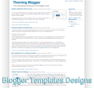 Theme Updated 1024px XML Blogger Templates