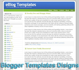 Theme Refresh Blogger Templates XML Web 2.0