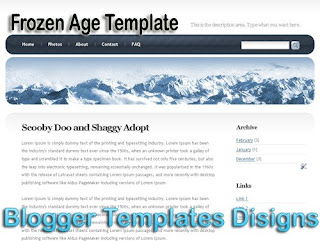 Theme Frozen Age Blogger Templates XML Web 2.0