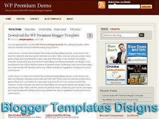 Theme WP Premium Blogger Templates XML Web 2.0