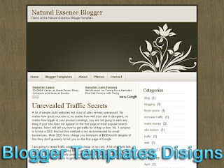 Theme Natural Essence Blogger Templates XML Web 2.0