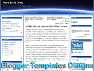 Theme Daya Earth Blogger Templates XML Web 2.0