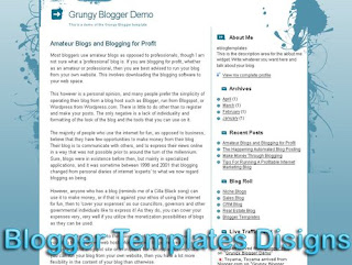 Theme Grungy Blogger Templates XML Web 2.0