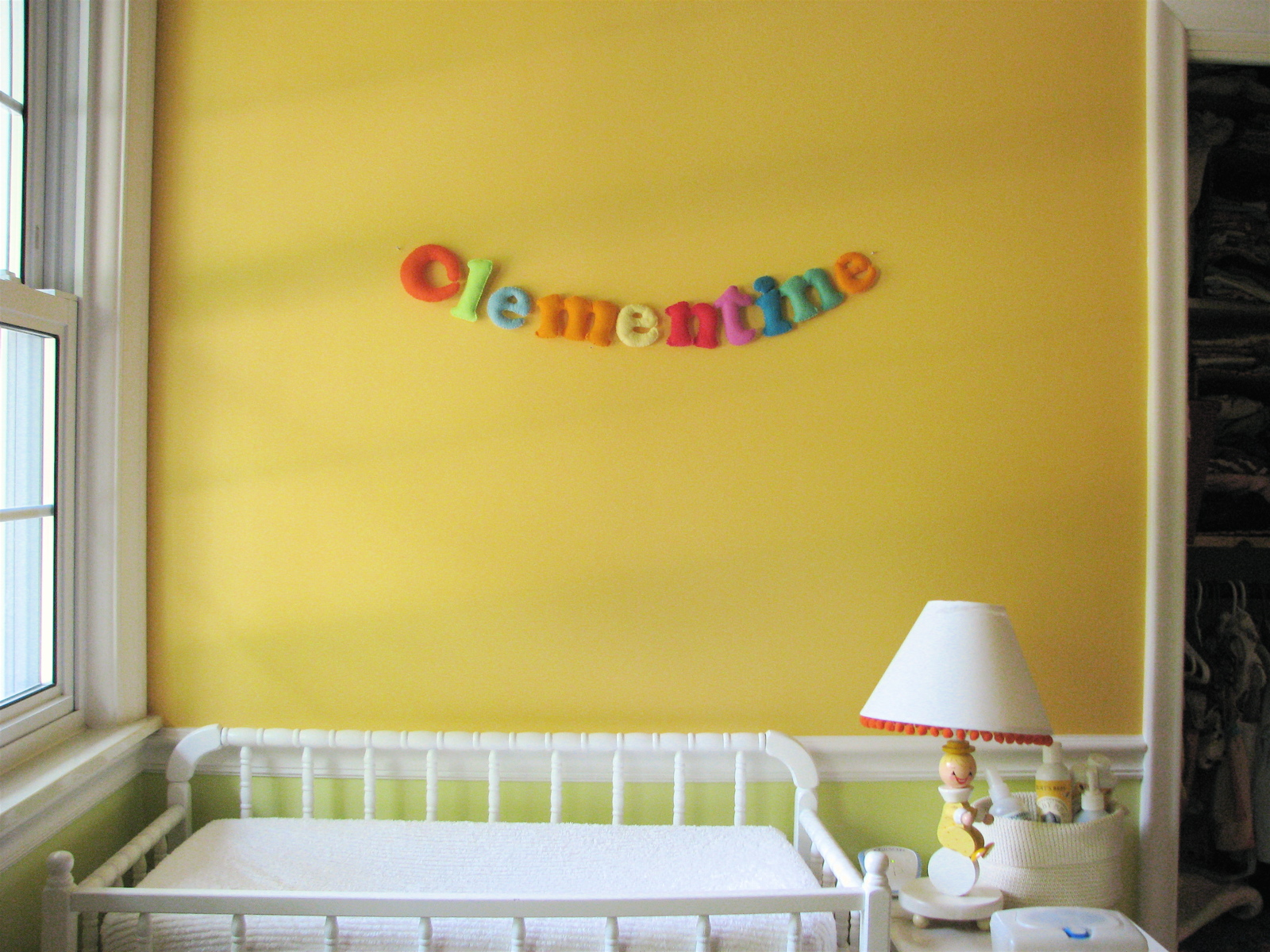 felt letters for clementine s room made by rae felt letters for clementine s room
