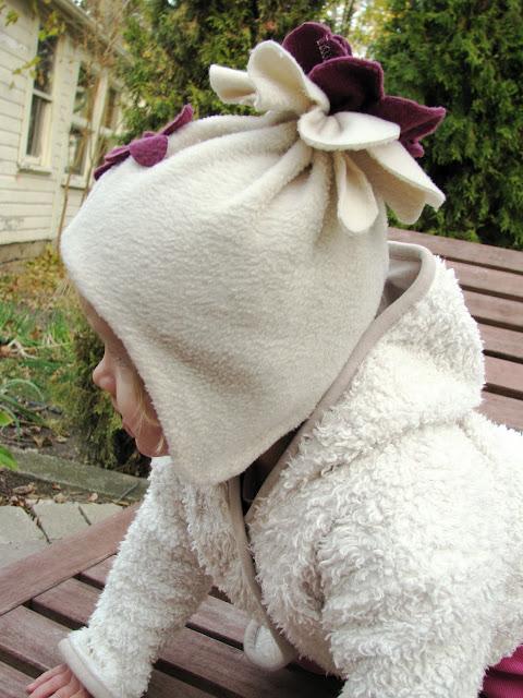 Своими руками шапка для девочки из флиса 99