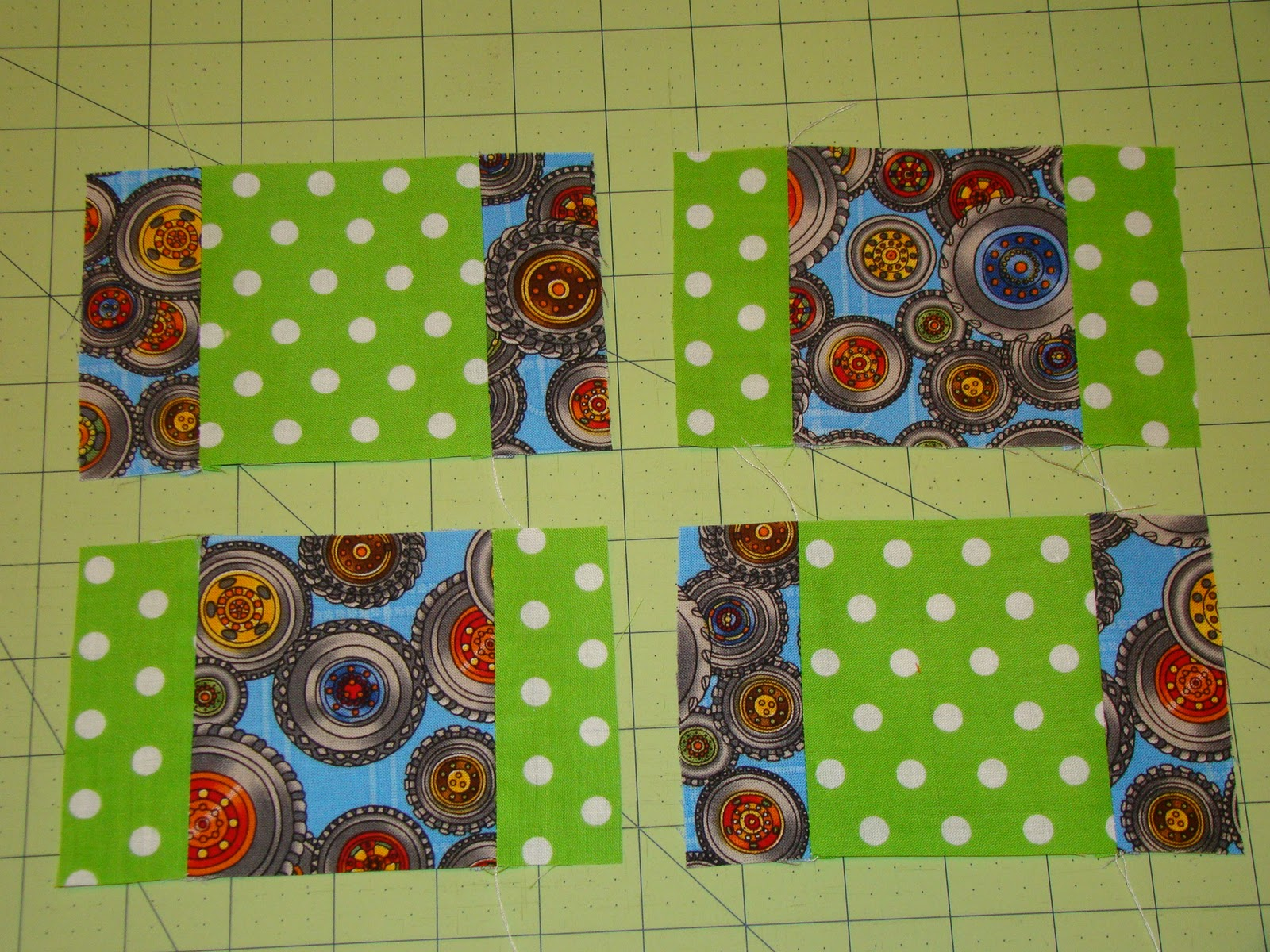 How to Quilt: Strip Piece a 9 Patch for a Block or patch