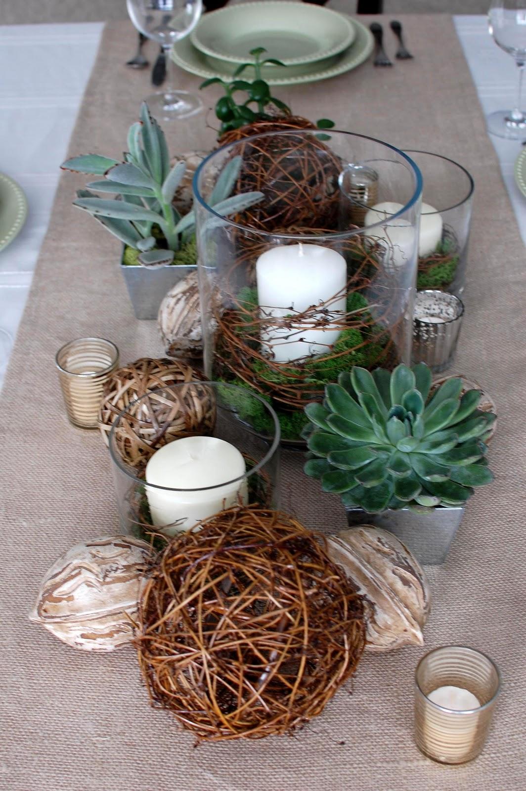 33 shades of green natural elements tablescape for Vintage weihnachtsdeko