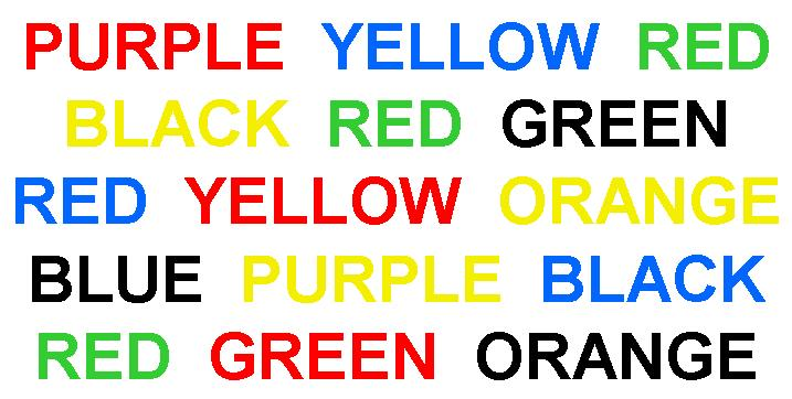 stroop effect J ridley stroop named after j ridley stroop, the stroop effect deals with issues  surrounding selective attention when presented with a word that is printed in.