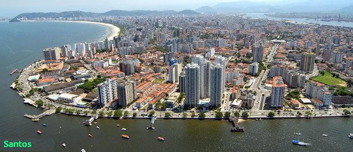 Santos vista da Ponta da Praia.Linda esta cidade!