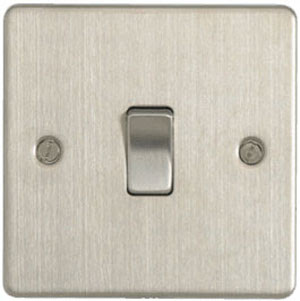 The Cheapest Switches - Stainless Flat Plate 1 Gang