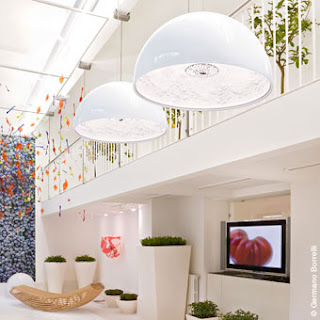Flos Skygarden Pendant in white outer coating