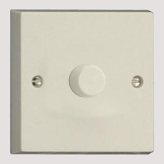 Varilight White 400W 1 Gang 2-Way Push-On/Push Off Intelligent Dimmer Switch - IQP401W