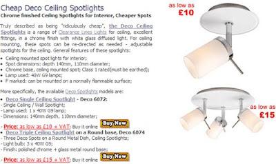 Cheaper Deco Spotlights, Single or Triple Deco Spots for Ceiling best deal!