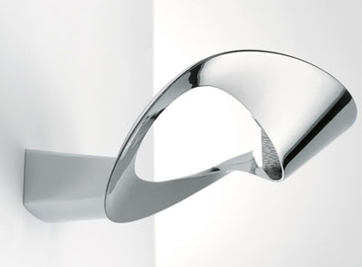 Artemide Mesmeri Halo Wall Light, in a Chrome Finish - Artemide AY221 Wall Lamp