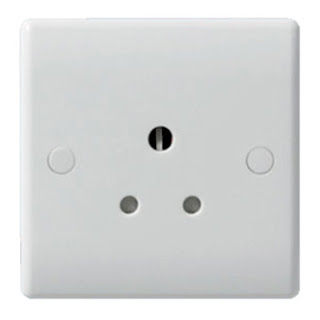 The BG Nexus 1 gang 5A unswitched socket, round pin socket - Nexus White Moulded 829