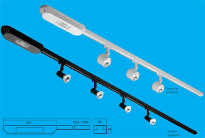 Illuma MarkTrack Low Voltage System, miniature spotlights system