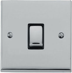 The Heritage Brass LP1.800 - Richmond Elite low profile 1 gang 2 way 6 Amp switch