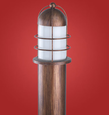 The Minorca 89536 - IP54 Bollard, outdoor garden lamp in a copper finish(floor lamp)