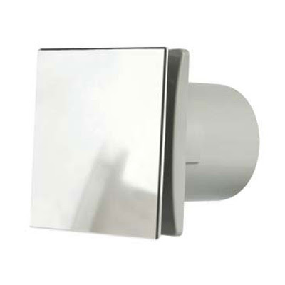 Manrose DEC150SC - Manrose Rtdeco 6 inch chrome extractor fan with aluminium front cover DECO150SC