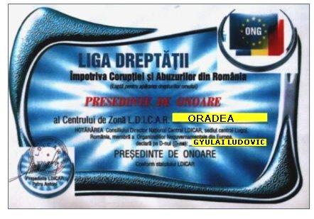Presedinte de Onoare al Centrului de Vest Oradea - Gyulai Ludovic