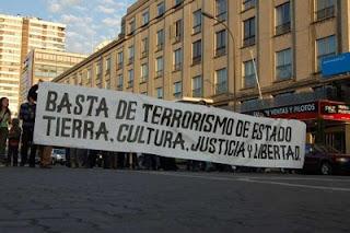 Manifestación contra el terrorismo de Estado