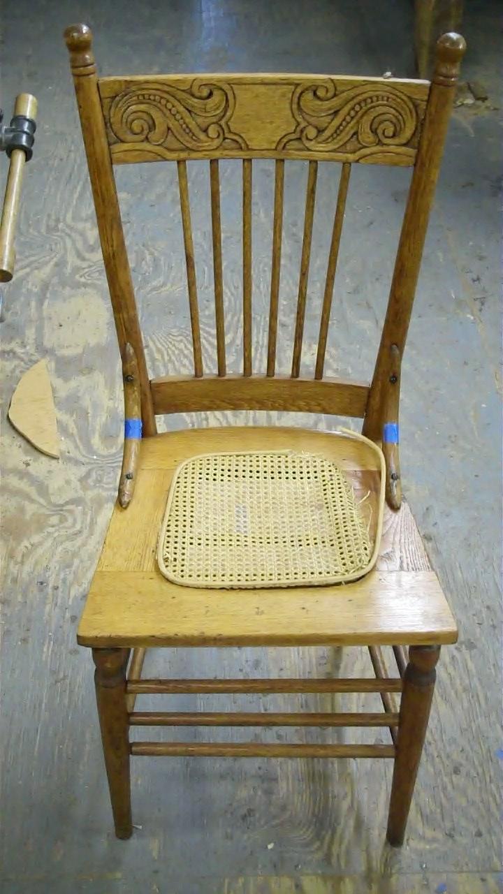 Pressed Oak Chairs ~ John mark power antiques conservator repairing an oak