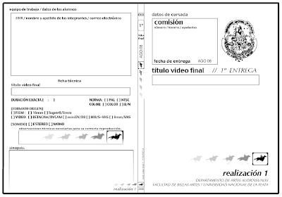 Carátula Slim para DVD Realización 1