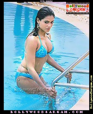 Payal Rohatgi in Sexy Blue Bikini..totally wet..!