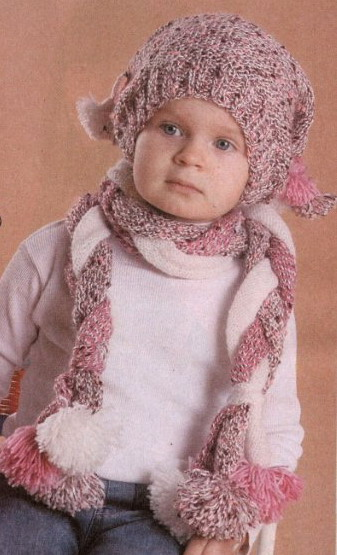 вязание, вяжем детям, детские вещи, шапочки, шарфы, митенки