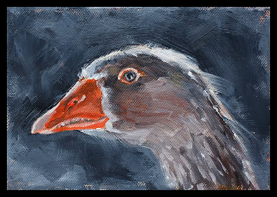 goose oil painting