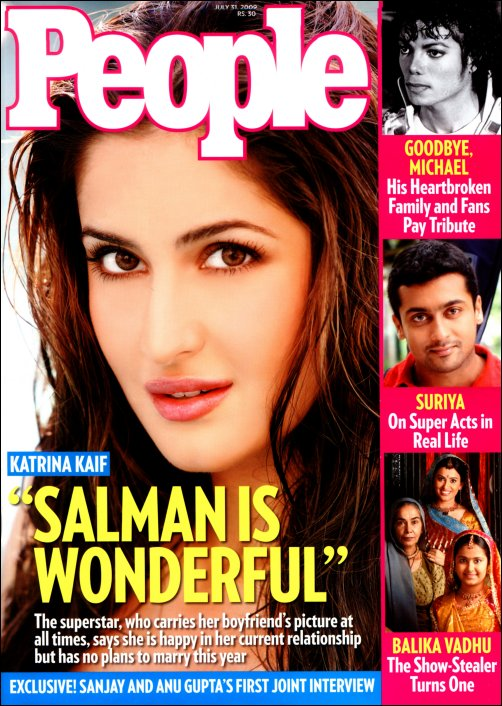 , Katrina Kaif People Magazine Cover Scan July 2009