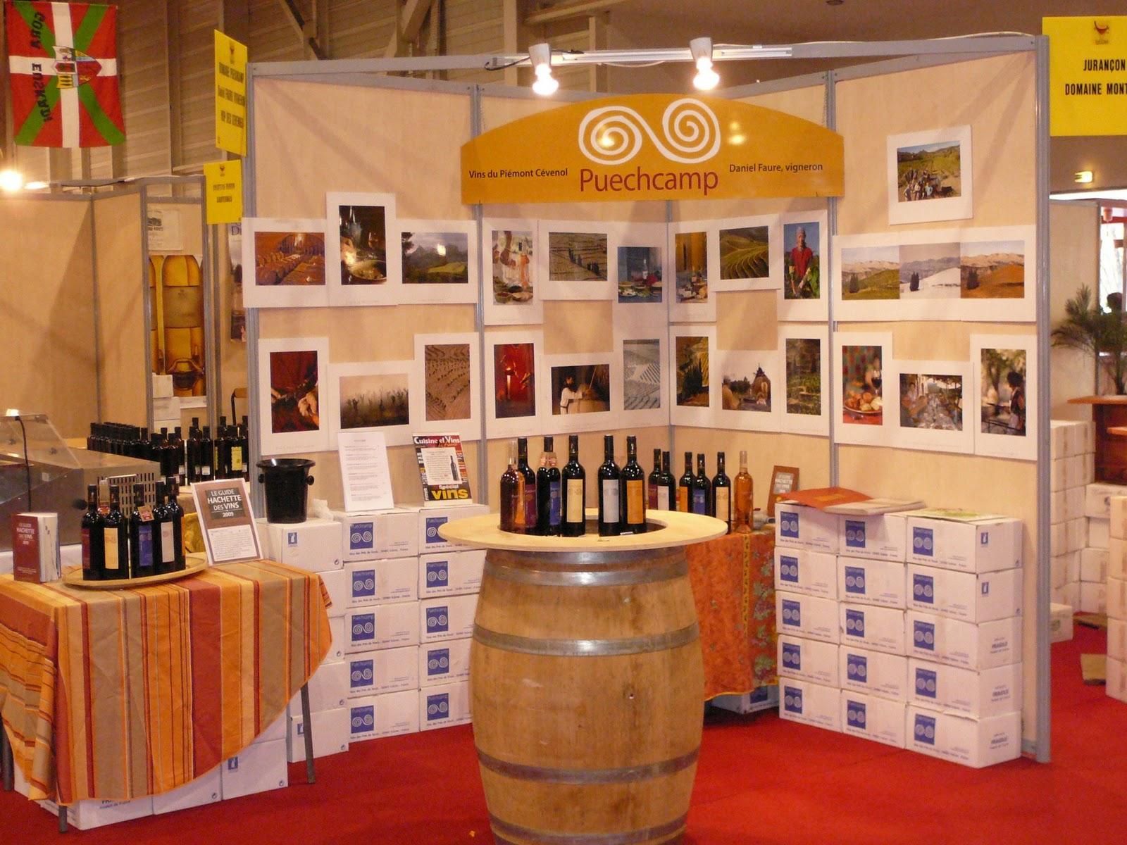 Puechcamp vivre le vin rendez vous aux foires aux vins for Stand de degustation