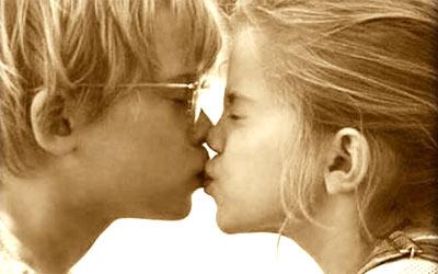Primer beso con adolescente