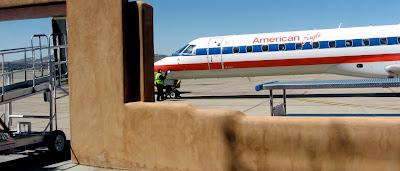 American Eagle plane in Santa Fe