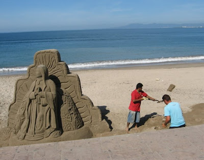 Puerto Vallarta sand sculpture Malecon