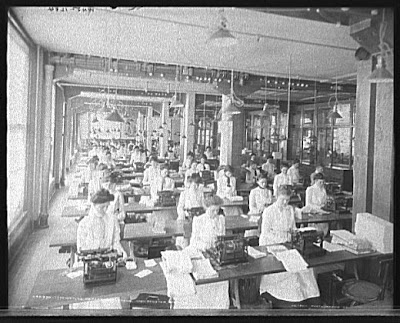 NCR Typewriting Department, Dayton, Ohio, 1902