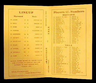 Program for 1905 Harvard Yale Game