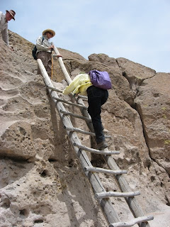 Ladder at Tsankawi, Bandelier