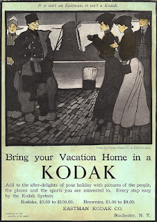 Kodak Girl in Holland, 1905 ad