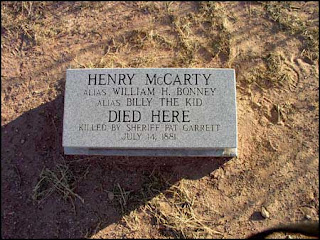 Billy the Kid's grave marker