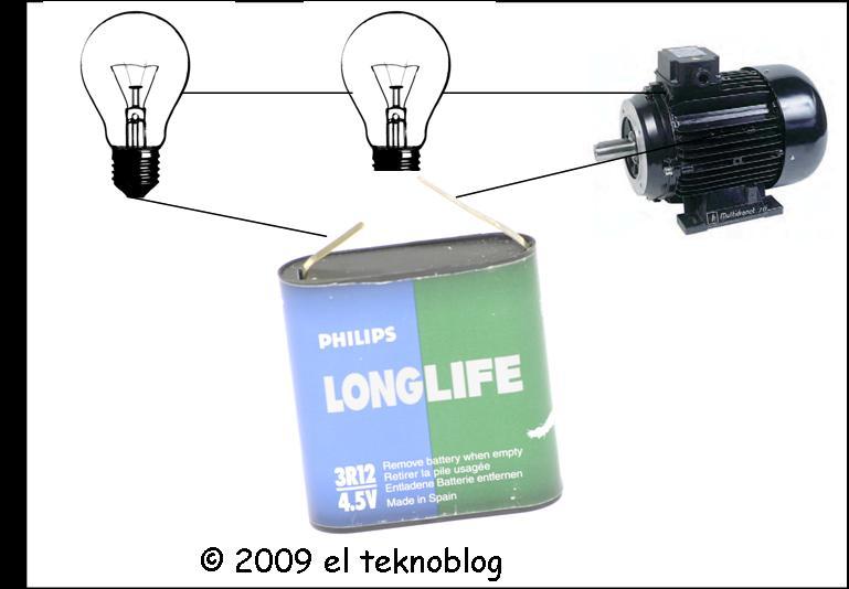 Circuito Que Tenga Un Interruptor Una Pila Y Una Bombilla : El tekno conexión en serie de receptores