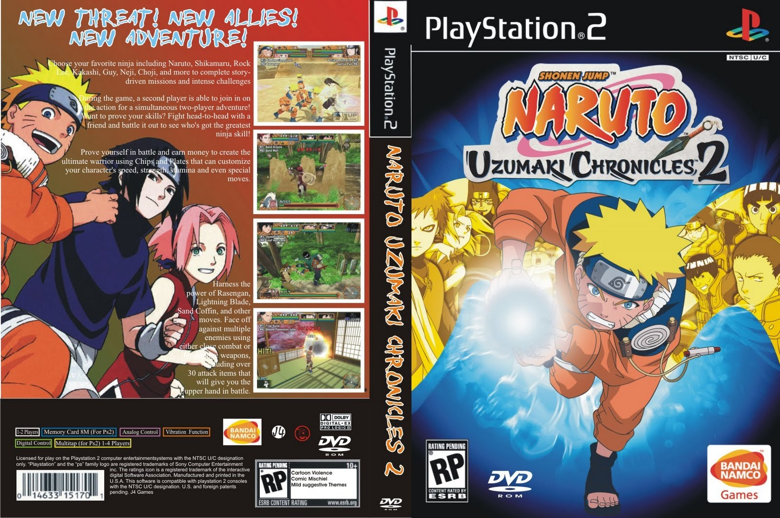 Download Naruto Uzumaki Chronicles 2 Ps2 Games | Auto ...