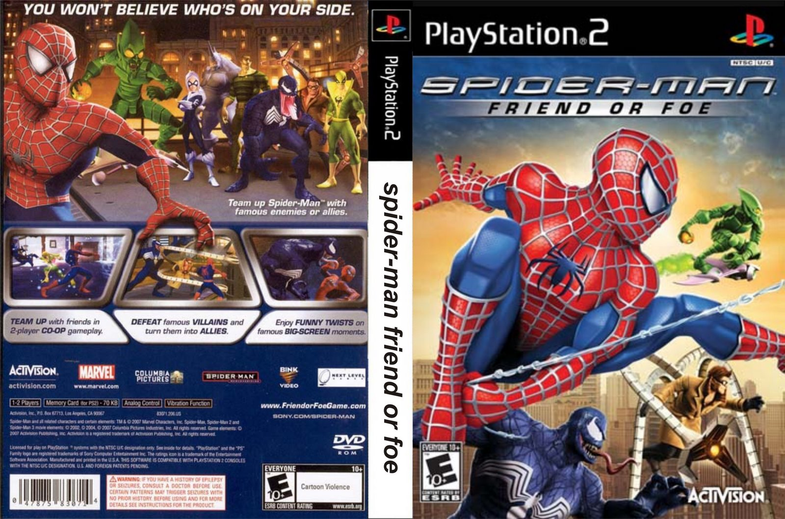 PS2  SPIDER MAN   FRIEND OR FOE
