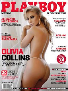 Olivia Collins On  Playboy Magazine Cover Page