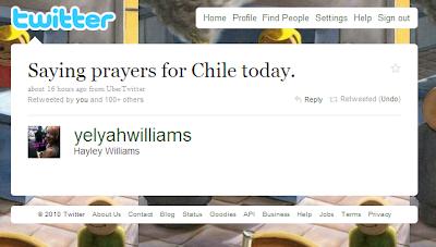 oraciones de hayley por nosotros los chilenos Chile